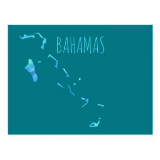 Bahamas Map Postcard