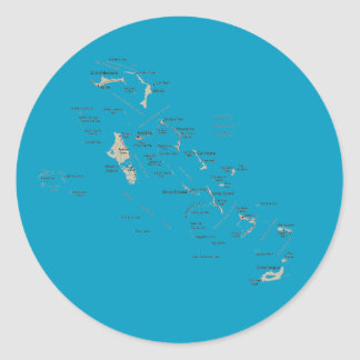 Bahamas Map Sticker