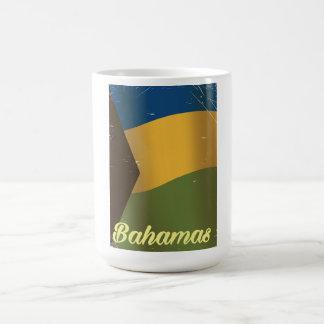 Bahamas national flag vintage travel poster coffee mug