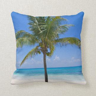 Bahamas Palm Tree Throw Pillows