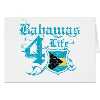 Bahamas para la vida tarjeta de felicitación