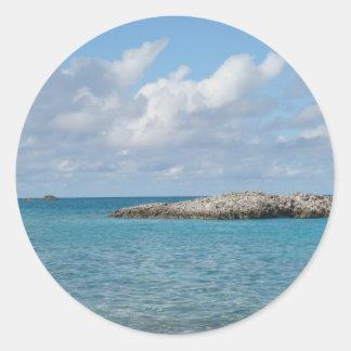 Bahamas Etiquetas Redondas