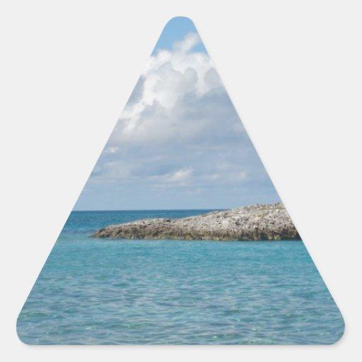 Bahamas Pegatina Triangular