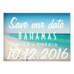 Bahamas Postcard Destination Wedding Save Date