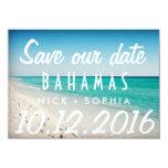 Bahamas Postcard Destination Wedding Save Date