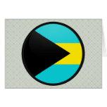 Bahamas quality Flag Circle Greeting Card