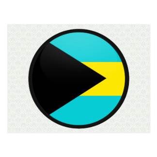 Bahamas quality Flag Circle Postcard