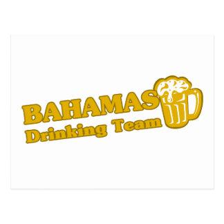 Bahamas que beben al equipo tarjeta postal