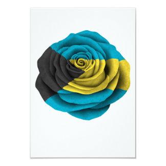Bahamas Rose Flag on Black Card