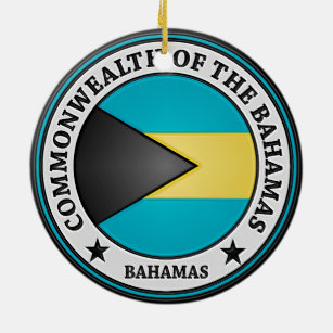 Bahamas Round Emblem Ceramic Ornament