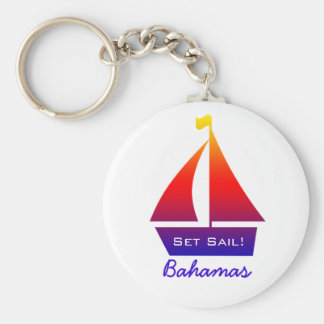 Bahamas Sailboat Keychain