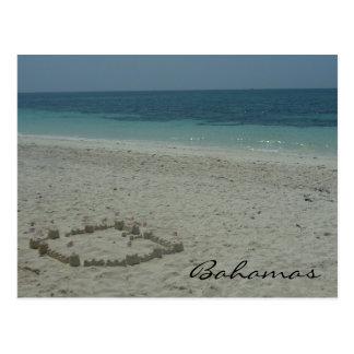 bahamas sand postcard