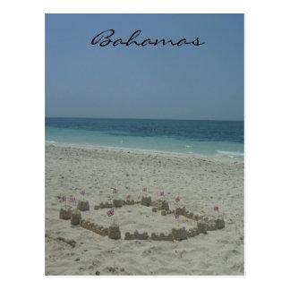 bahamas sandcastle postcards