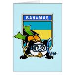 Bahamas Scuba Panda Greeting Card
