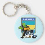Bahamas Scuba Panda Keychain