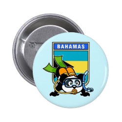 Bahamas Scuba Diving Panda Round Button