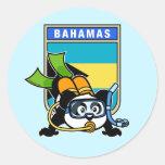 Bahamas Scuba Panda Sticker