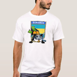 Men's Basic T-Shirt with Bahamas Scuba Diving Panda design