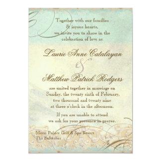 Bahamas Sea Turtle Modern Coastal Ocean Beach 5x7 Paper Invitation Card