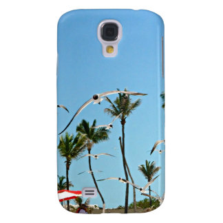 Bahamas Seagulls flying over blue skies Samsung Galaxy S4 Covers