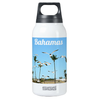Bahamas Seagulls flying over blue skies Insulated Water Bottle