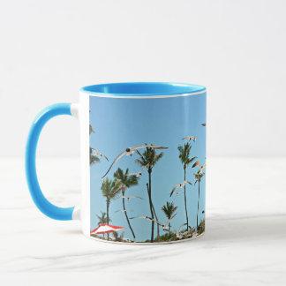 Bahamas Seagulls flying over blue skies Mug