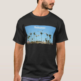 Bahamas Seagulls flying over blue skies T-Shirt