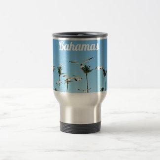 Bahamas Seagulls flying over blue skies Travel Mug