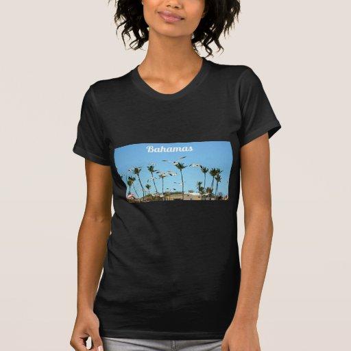 Bahamas Seagulls flying over blue skies Shirts