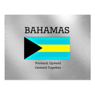 Bahamas señalan por medio de una bandera y lema postales