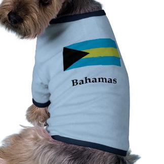 Bahamas señalan por medio de una bandera y nombran camiseta con mangas para perro