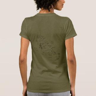 Bahamas señalan y trazan la camiseta de DK por med