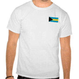 Bahamas señalan y trazan la camiseta por medio de