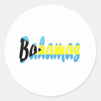 Bahamas Round Stickers