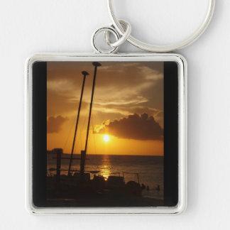 Bahamas sunset keyring