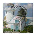 "Bahamas Tile<br><div class=""desc"">Cute house with a lighthouse in the Bahamas.</div>"