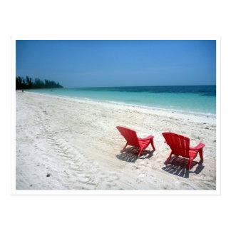 bahamas two seats postcard