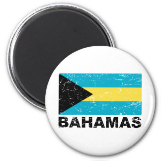 Bahamas Vintage Flag 2 Inch Round Magnet