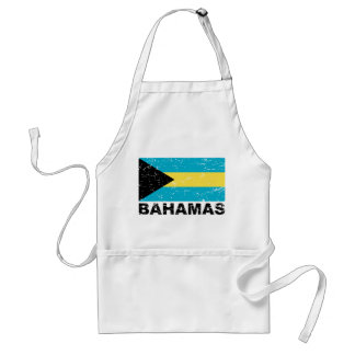 Bahamas Vintage Flag Adult Apron