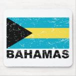 Bahamas Vintage Flag Mouse Pad