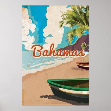 bartonleclaydesign Bahamas vintage travel poster