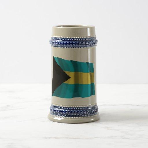 Bahamas Waving Flag Coffee Mug