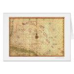 Bahamas y mapa 1650 de Cuba Tarjeta De Felicitación