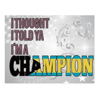 Bahamian and a Champion Postcard