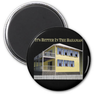 Bahamian Architecture 2 Inch Round Magnet