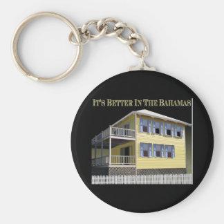 Bahamian Architecture Basic Round Button Keychain