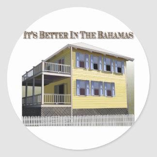 Bahamian Architecture Classic Round Sticker