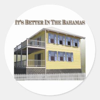 Bahamian Architecture Classic Round Sticker