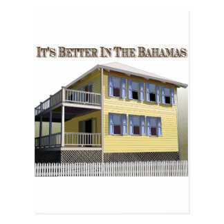 Bahamian Architecture Postcard