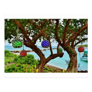 Bahamian baubles postcard